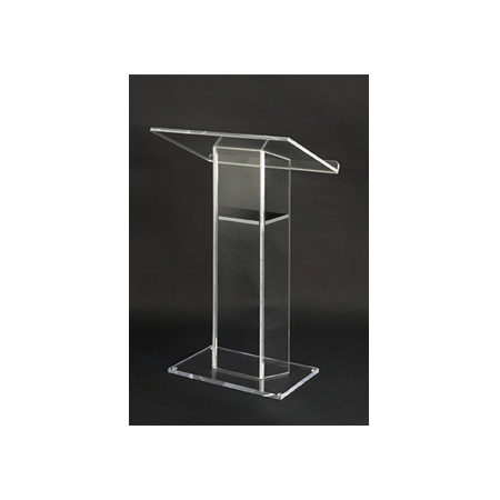 Amplivox SN3055 Clear Acrylic Floor Lectern with 31.5x21 Inch Reading Surface