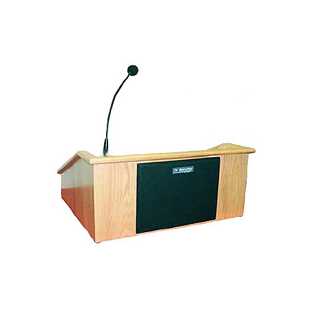 Amplivox SS3025 Victoria Tabletop Classic Raised Panel Lectern w/Sound