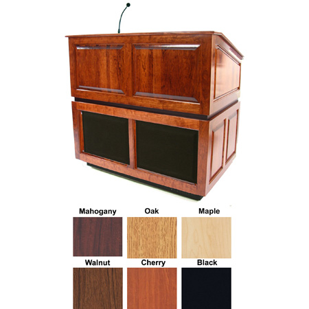 Amplivox SS3035WT  Ambassador Lectern with Sound - Walnut