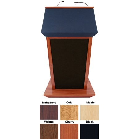 SS3045WT - Patriot Plus Lectern with Sound - Walnut