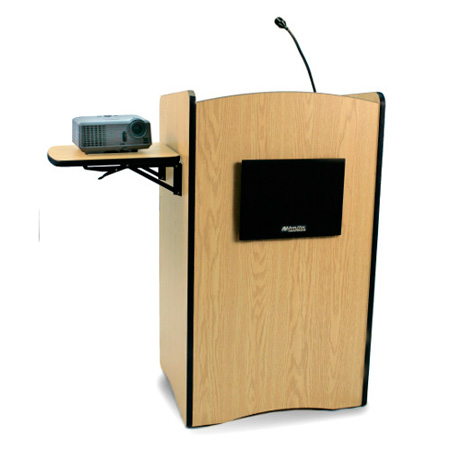 Amplivox SS3230 Multimedia Computer Lectern- Medium Oak