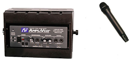 Amplivox SW1230 Mity Box Speaker with 16 channel UHF Wireless Microphone - Handheld