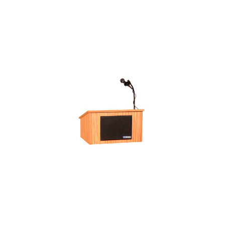 SW250WT Tabletop Lectern with Sound - Walnut - Wireless Handheld Mic