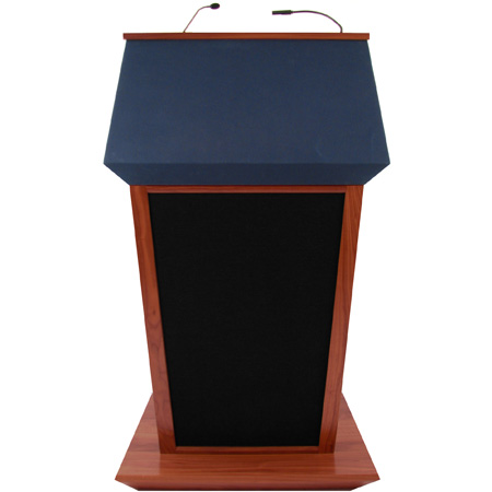 SW3045WT Patriot Plus Lectern - Walnut - Wireless Handheld Mic