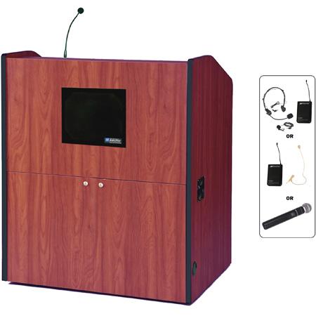 SW3430WT Wireless Multimedia Smart Podium - Walnut