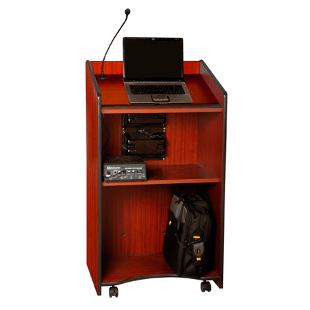 SW450MH Presidential Plus Lectern - Mahogany - Wireless Handheld Mic