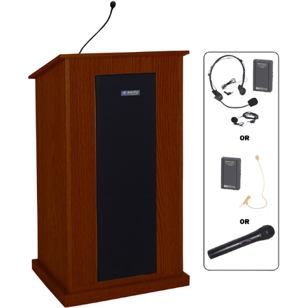 SW470OK Chancellor Lectern - Oak - Wireless Handheld Microphone