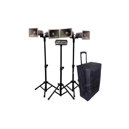 Amplivox SW662 Deluxe Wireless Quad Horn Half-Mile Hailer Kit