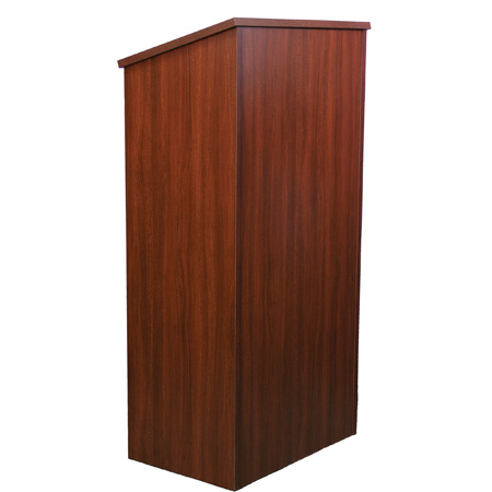 Amplivox W280WT Full Height Wood Lectern - Walnut