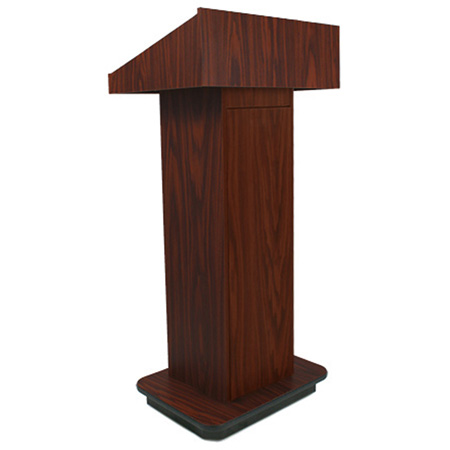 W505WT Executive Non-sound Column Lectern - Walnut