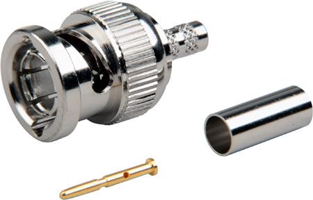 Amphenol 112955-11 75-Ohm 12G BNC Male Crimp Connector for Belden 1855A/1865A/4855R Coax