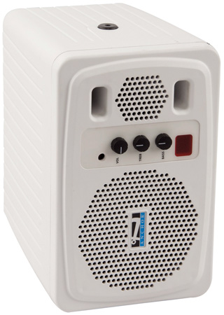 Anchor AN-130 Plus 30 Watt Powered Monitor - White - B-Stock (Opened Box)