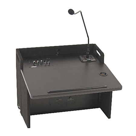 Anchor ACL-8000U2BK Acclaim Lectern Top with 2 Wireless Receivers - Black