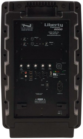 Anchor LIB-8000U2 Liberty Platinum Speaker with 2 Built-In Wireless Receivers & Bluetooth