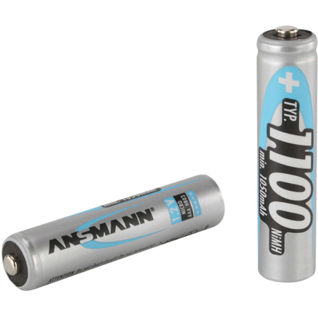 Ansmann 5035232 Micro Ni-Mh AAA 1100 mAh Rechargeable Battery - Pack of 4