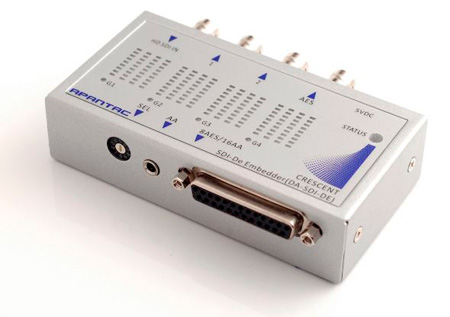 Apantac DA-SDI-DE-AA-BL SDI De-embedder with 1 x 2 SDI Distribution Amplifier