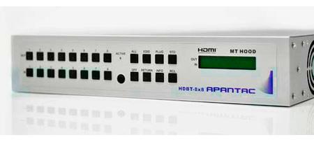 Apantac HDBT-8x8 8x8 HDMI Matrix Switch with CAT 5e/6 Output Extenders