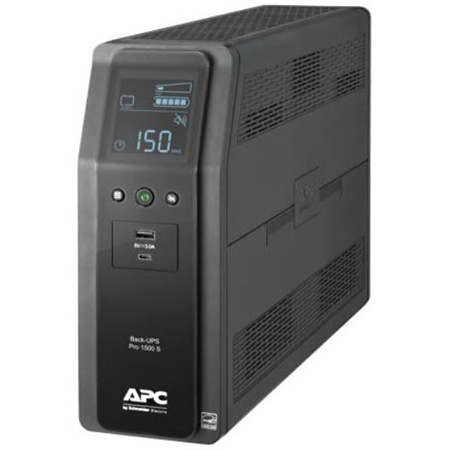 APC BR1500MS Back UPS PRO BR 1500VA SineWave 10 Outlets 2 USB Charging Ports AVR LCD Interface