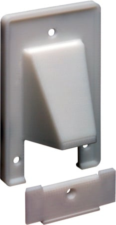 Arlington CER1 Reversible 2-Piece Low-Voltage Cable Entrance Wall Plate - White
