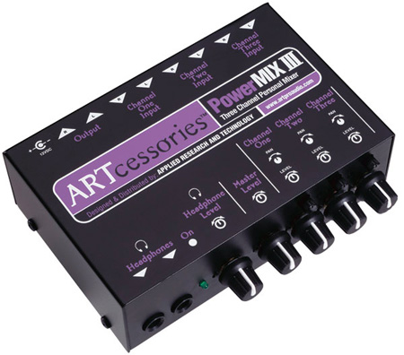 ART POWERMIX III - Three Channel Personal Stereo Mixer