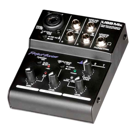 ART USB MIX Three Channel Microphone Instrument & Line Mixer