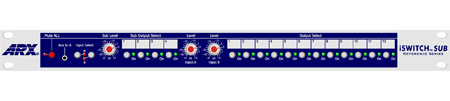 ARX i-Switch-SUB 12 Stereo Pair Plus Subs Line Switcher