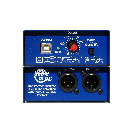ARX USB-2 Audibox USB DI-VC Same As USB-1 with Output Level Control
