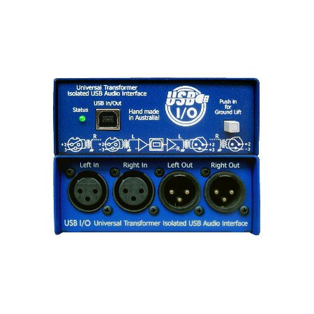 ARX USB I/O (USB-3) Audibox USB I/O Balanced Stereo XLR Inputs & Outs USB DI Box