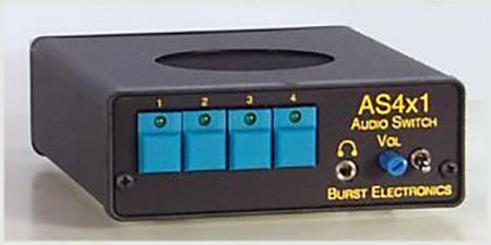 Burst AS-4X1R 4x1 Stereo Audio Switcher w/RS232