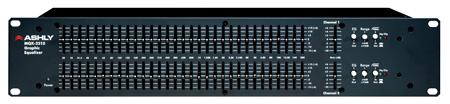 Ashly MQX2310 Stereo 31-Band EQ with 25mm Sliders 2RU
