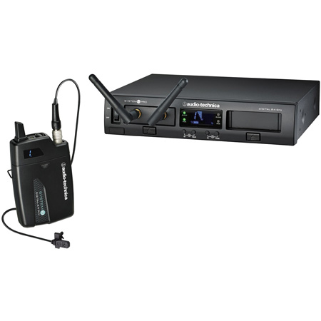 Audio Technica ATW-1301/L Rackmount Digital Wireless System w/ Bodypack Tx and Rx and MT830cW Lavalier Mic