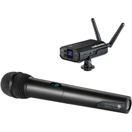 Audio-Technica ATW-1702 Handheld Wireless Mic System w/Camera Mount Receiver