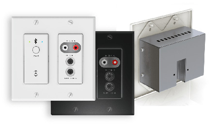 Attero Tech unA6IO-BT AES67 Networked Audio Wall Plate - 4x2 Multi I/O with Bluetooth - Black Version