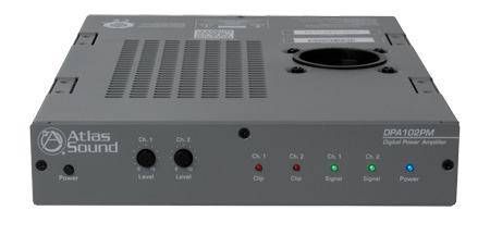 Atlas DPA-102PM Networkable 2-Channel 100Wl Power Amplifier