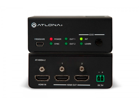 Atlona AT-HDDA-2 1 x 2 HDMI Ultra HD 4Kx2K Distribution Amplifier