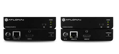 Atlona AT-HDR-EX-70-2PS 4K HDR HDMI Over HDBaseT TX/RX Kit