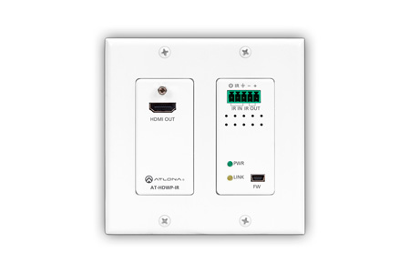 Atlona AT-HDWP-IR HDBaseT RX HDMI 2-Gang US Decora Wall Plate w/IR