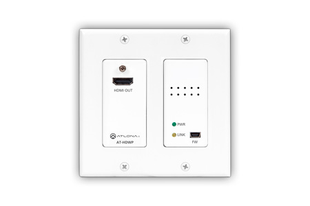 Atlona AT-HDWP HDBaseT RX HDMI 2-Gang US Decora Wall Plate