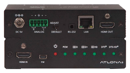 Atlona AT-UHD-M2C-BAL 4K/UHD HDMI Multi-Channel to Two-Channel Balanced Audio Converter