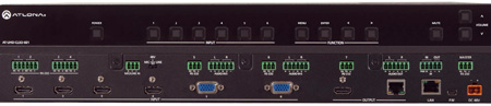 Atlona AT-UHD-CLSO-601 4K/UHD 6-Input Multi-Format Switcher w/Mirrored HDMI & HDBaseT Outputs PoE & Auto-Switching
