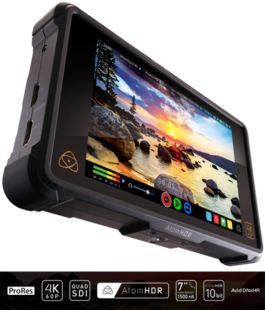 Atomos Shogun Inferno 1500nit/10bit/HDR 4Kp60 over Quad-SDI HDMI Recorder/Player/Monitor