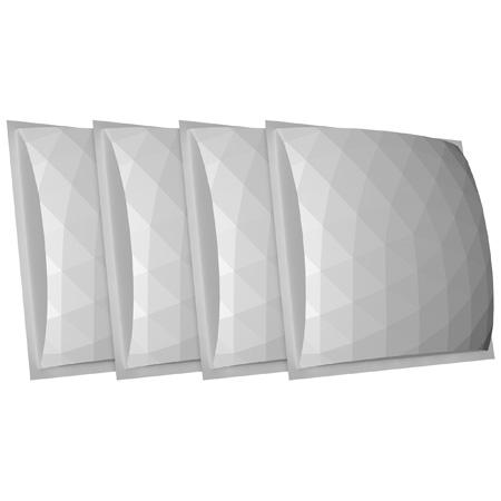 Auralex GEOFUSOR-22-4PK (4) 4 Inch x 24 Inch x 24 Inch GeoFusors - (16) EZ-Stick Pro Tabs