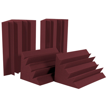 Auralex LENBUR-HP (4) 12 Inch x 12 Inch x 24 Inch LENRD Bass Traps - Burgundy (LENRD Burgundy Half Pack)