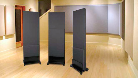 Auralex ProGo - Moveable Freestanding Acoustical Panels - Cobalt Fabric