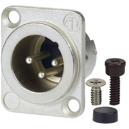 AVP UMNC3MD-LX Maxxum Neutrik 3 Pole Nickel/Silver Duplex Ground Contact  Adapter Plate(s) and/or Hardware MIS Color-Code