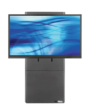 Avteq D-WMS DynamiQ Wall Mounted Electric Lift Display Stand - Supports up to 300 lbs - Black