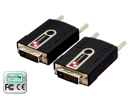 Avenview FO-DVI-1080X-SET 300 Meter DVI Over LC Fiber Optic Extender EMI Shield
