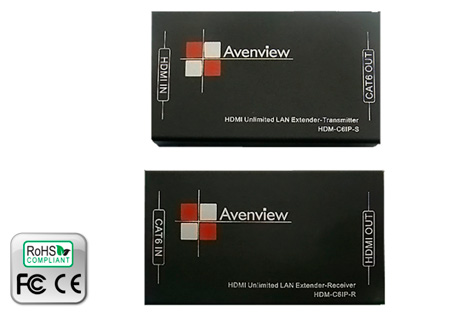 Avenview HDM-C6IP-SET Single CAT6 HDMI Extender Over IP System