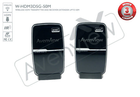 Avenview W-HDM3D5G-50M Wireless 5G HDMI Transmitter & Receiver - 1080p and 3D