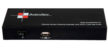 Avenview HDM-SHAREPRO-IP Remote Screen Sharing Extender Over Wi-Fi LAN with KVM